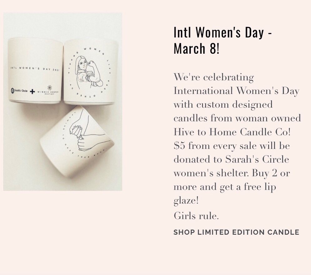 Winnie Cooper Boutique - Women's History Month